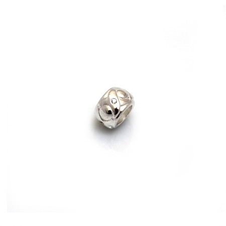Exclusive Sterling Silver & CZ, Noughts & Crosses Roller Charm Bead