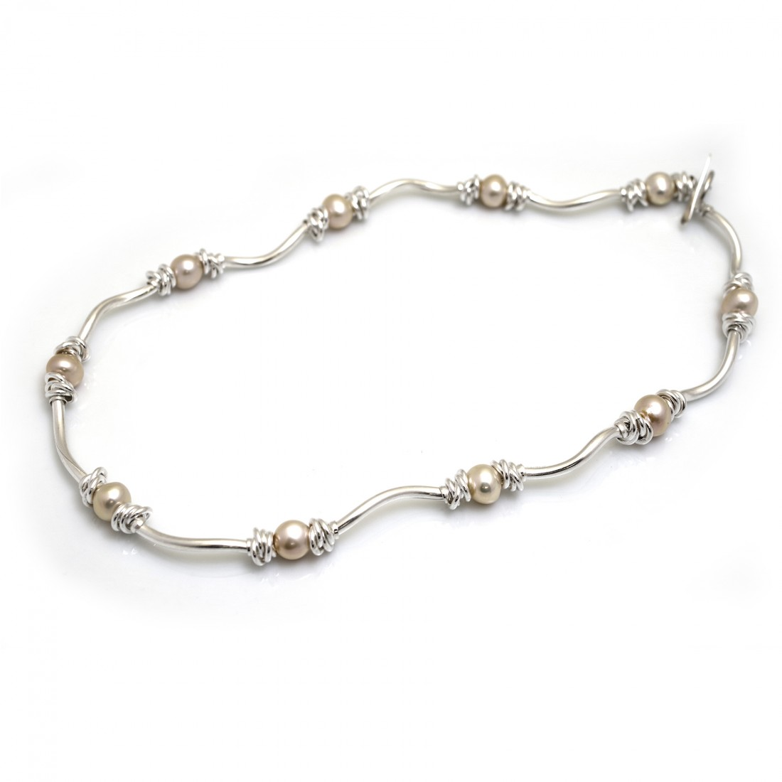 Special Edition Sterling Silver Pearl And Knot Necklace