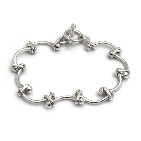Sterling Silver Smiley Face Bracelet