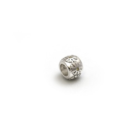 Exclusive Sterling Silver & Citrine Daisy Roller Charm Bead