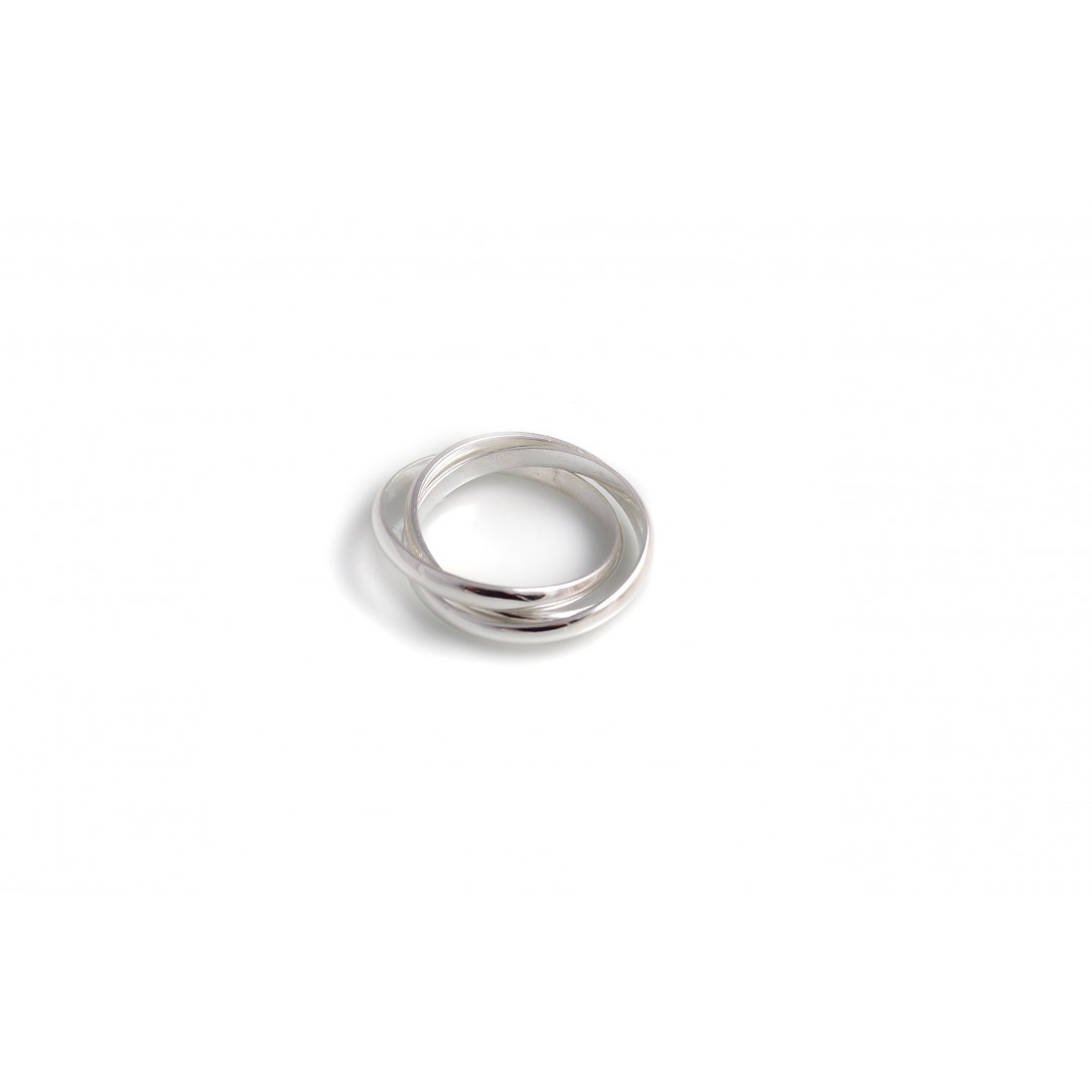 Sterling Silver Three Strand Russian Band Ring