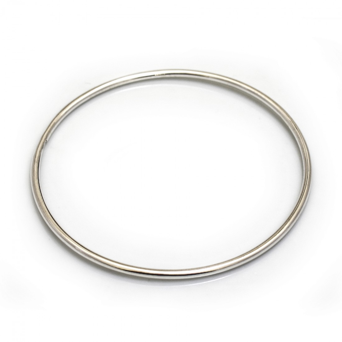 Sterling Silver Rounded Bangle