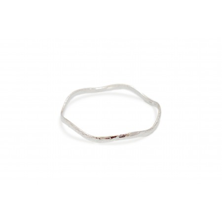 Sterling Silver Hammered Wiggle Bangle
