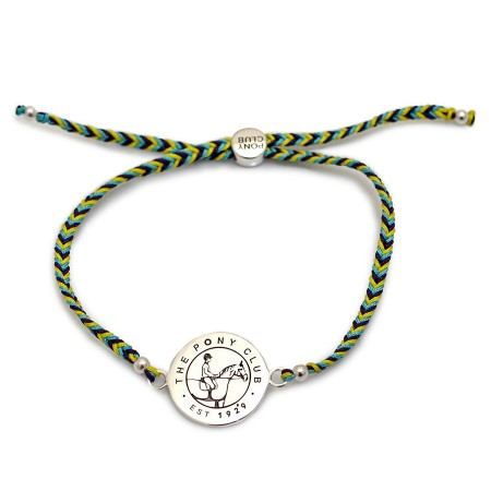 Exclusive Sterling Silver Pony Club Disc Friendship Bracelet