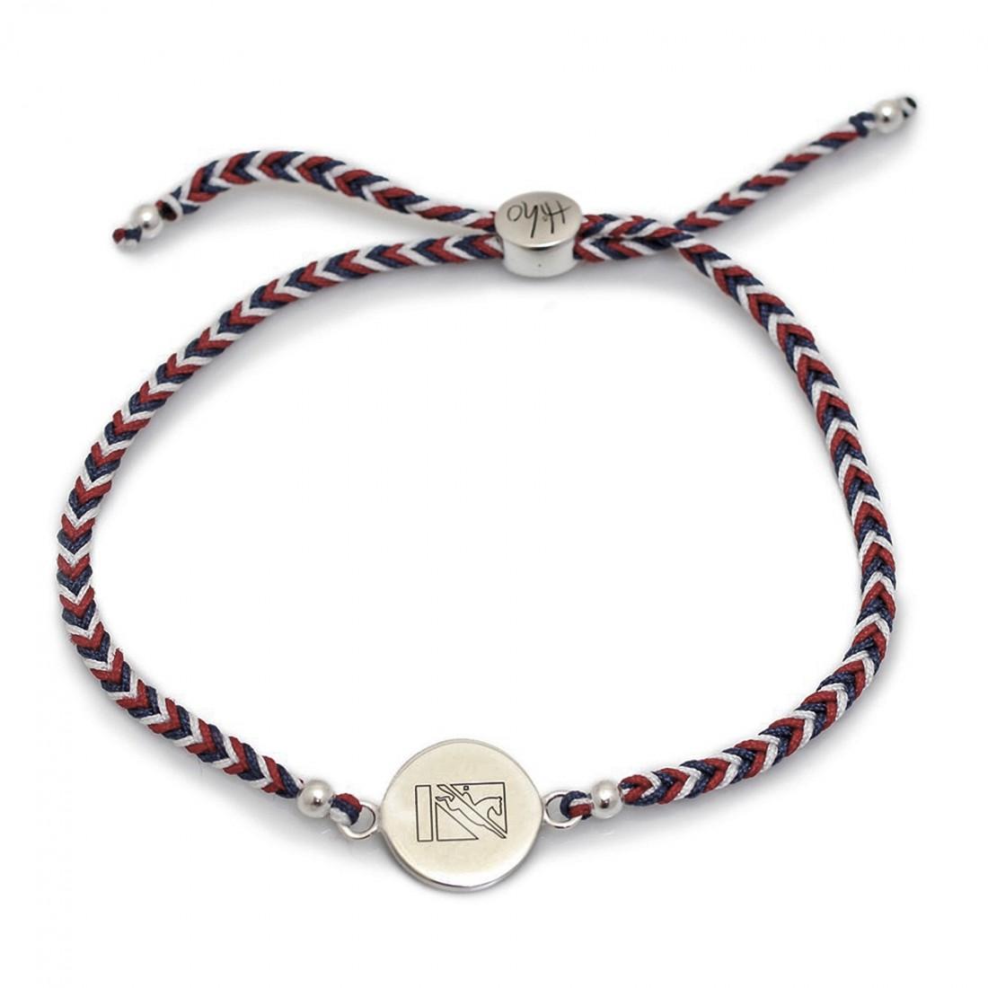 Exclusive Sterling Silver British Eventing Friendship Bracelet