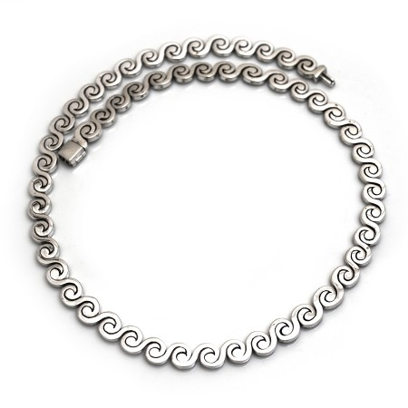 Sterling Silver Swirls Necklace