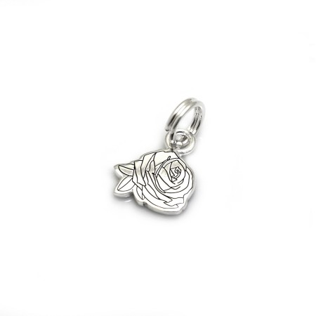 Exclusive Jemima Layzell Trust, Sterling Silver Rose Charm