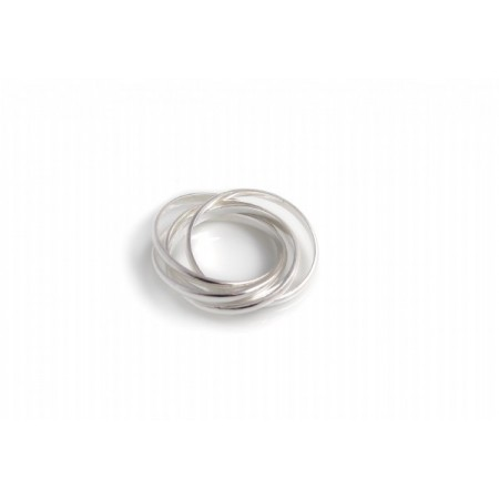 Sterling Silver Five Strand Russian Band Ring