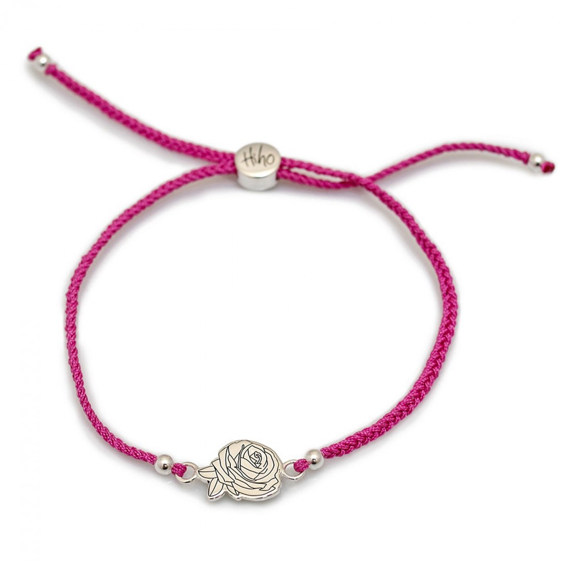 Exclusive Jemima Layzell Trust, Sterling Silver Rose Friendship bracelet