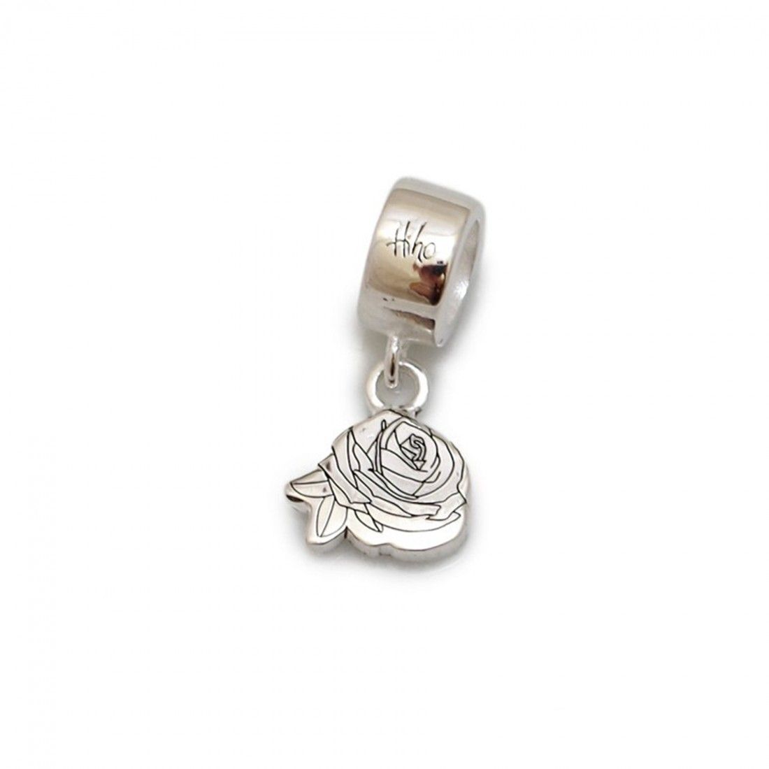 Exclusive Jemima Layzell Trust, Sterling Silver Rose Roller Charm
