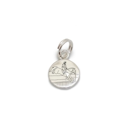 Exclusive Sterling Silver Eventing Cross Country Charm