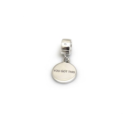 Exclusive Sterling Silver Olivia Tower's 'You Got This' Roller Charm