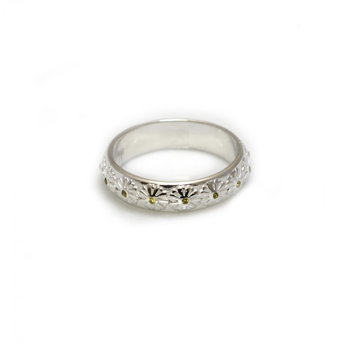 Exclusive Sterling Silver & Citrine Daisy Ring