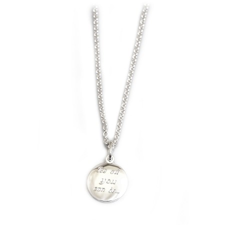 Exclusive Hiho & Co Day 'Be All You Can Be..' Sterling Silver Necklace