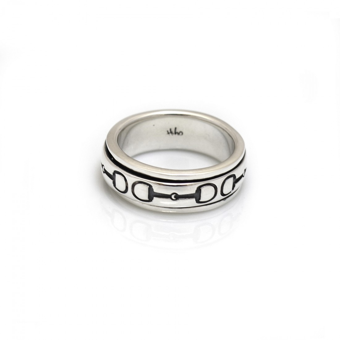 Exclusive Sterling Silver Snaffle Spinner Ring