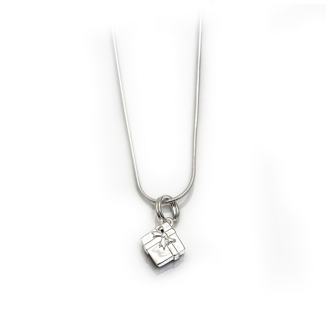 Sterling Silver Christmas Present Necklace