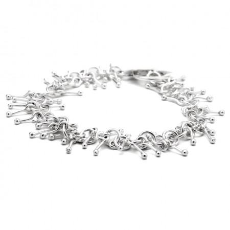 Sterling Silver Jingle Matchstick Bracelet
