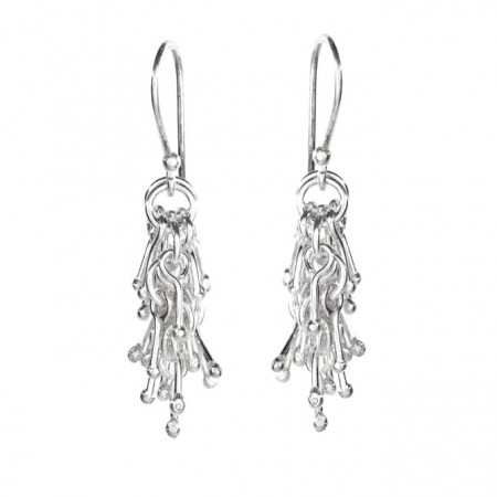 Hiho Sterling Silver Matchstick Jingle Dangly Earrings