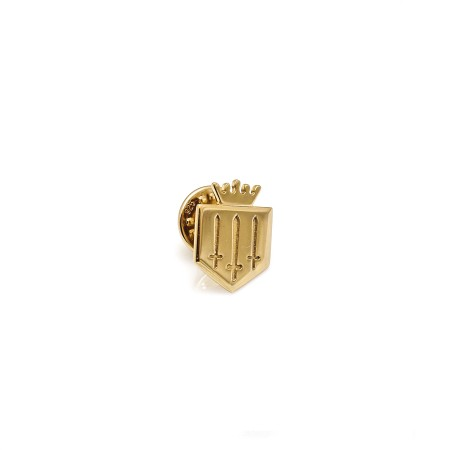 Exclusive Sterling Silver & 18ct Gold Plated Fairfax & Favor Lapel Pin
