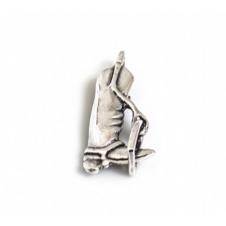Sterling Silver Stirrup & Riding Boot Brooch & Pendant
