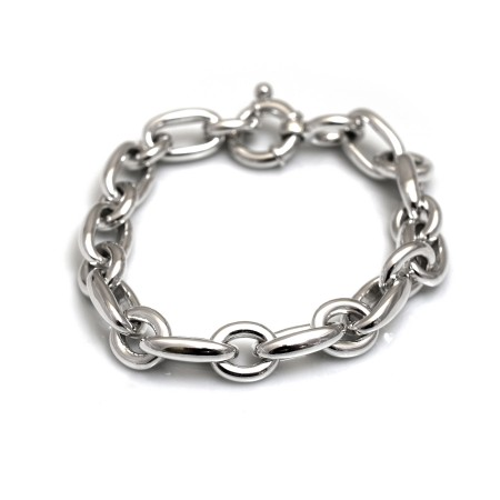 Sterling Silver Belcher Linked Bracelet