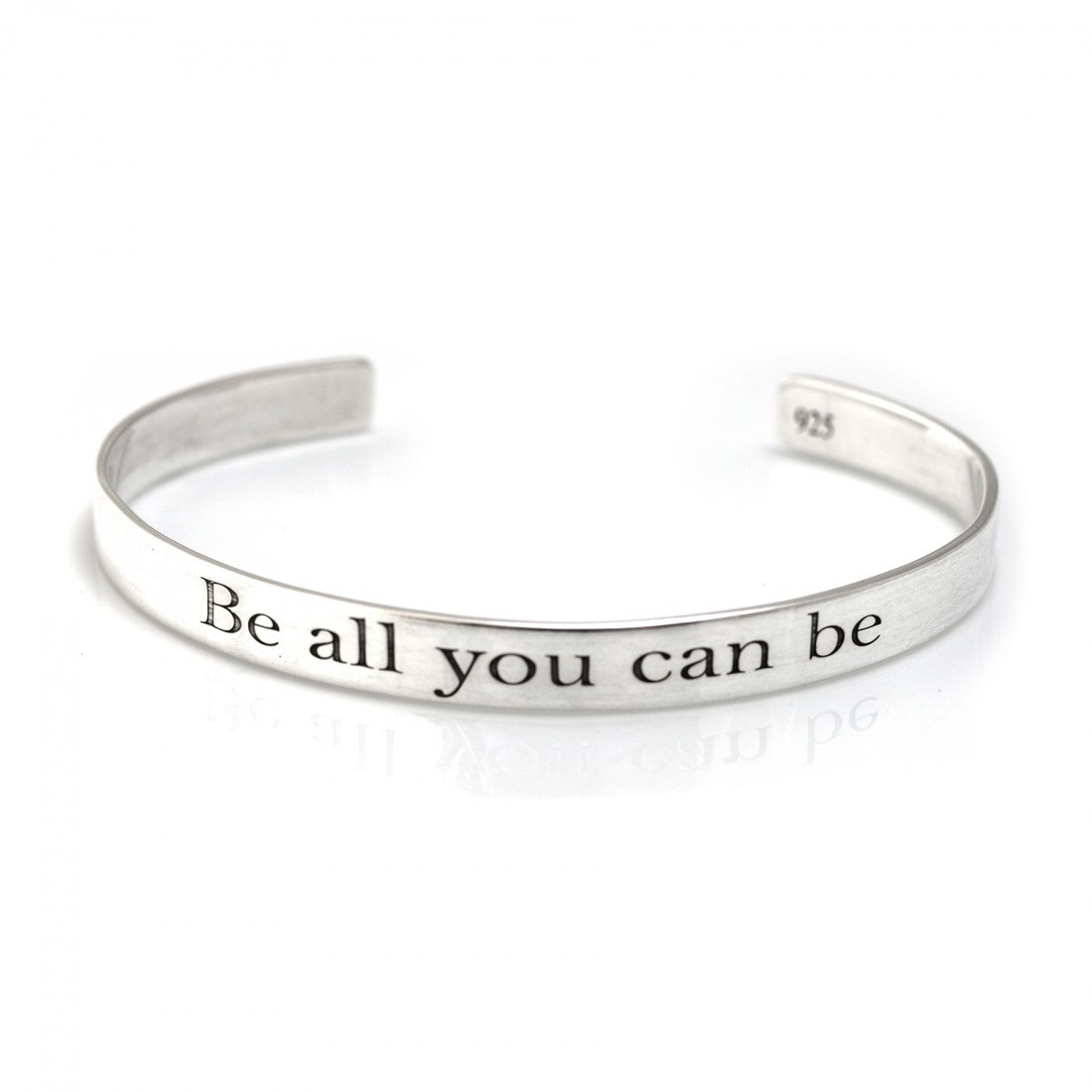 Exclusive Hiho & Co Day 'Be All You Can Be..' Sterling Silver Cuff Bracelet