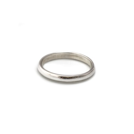 Rounded Sterling Silver Band Ring - 3mm
