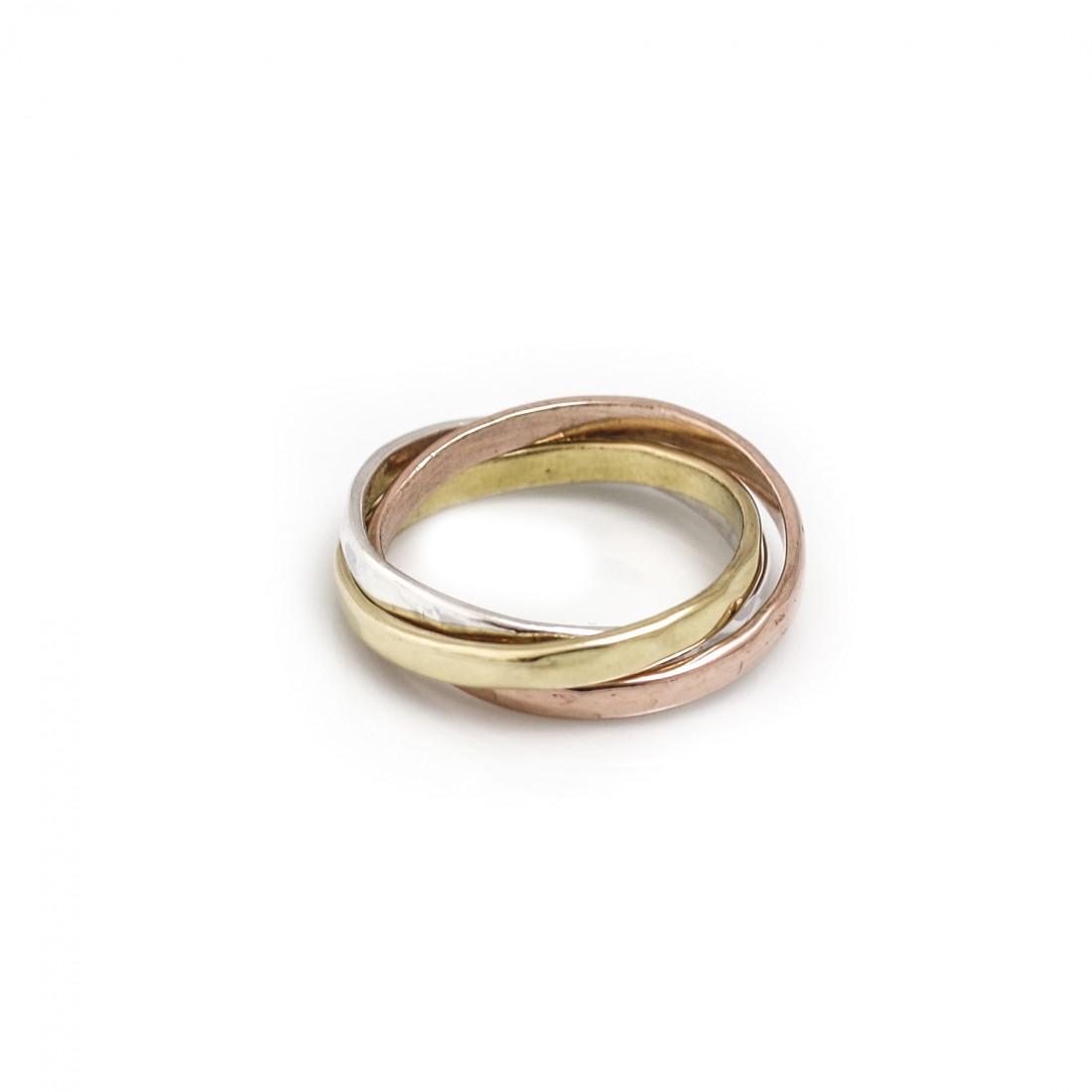 Sterling Silver & Multi Tone Russian Ring