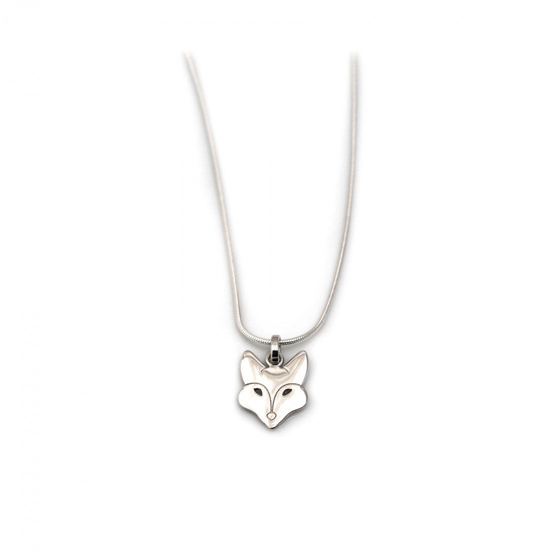 Sterling Silver Foxy Pendant With Snake Chain