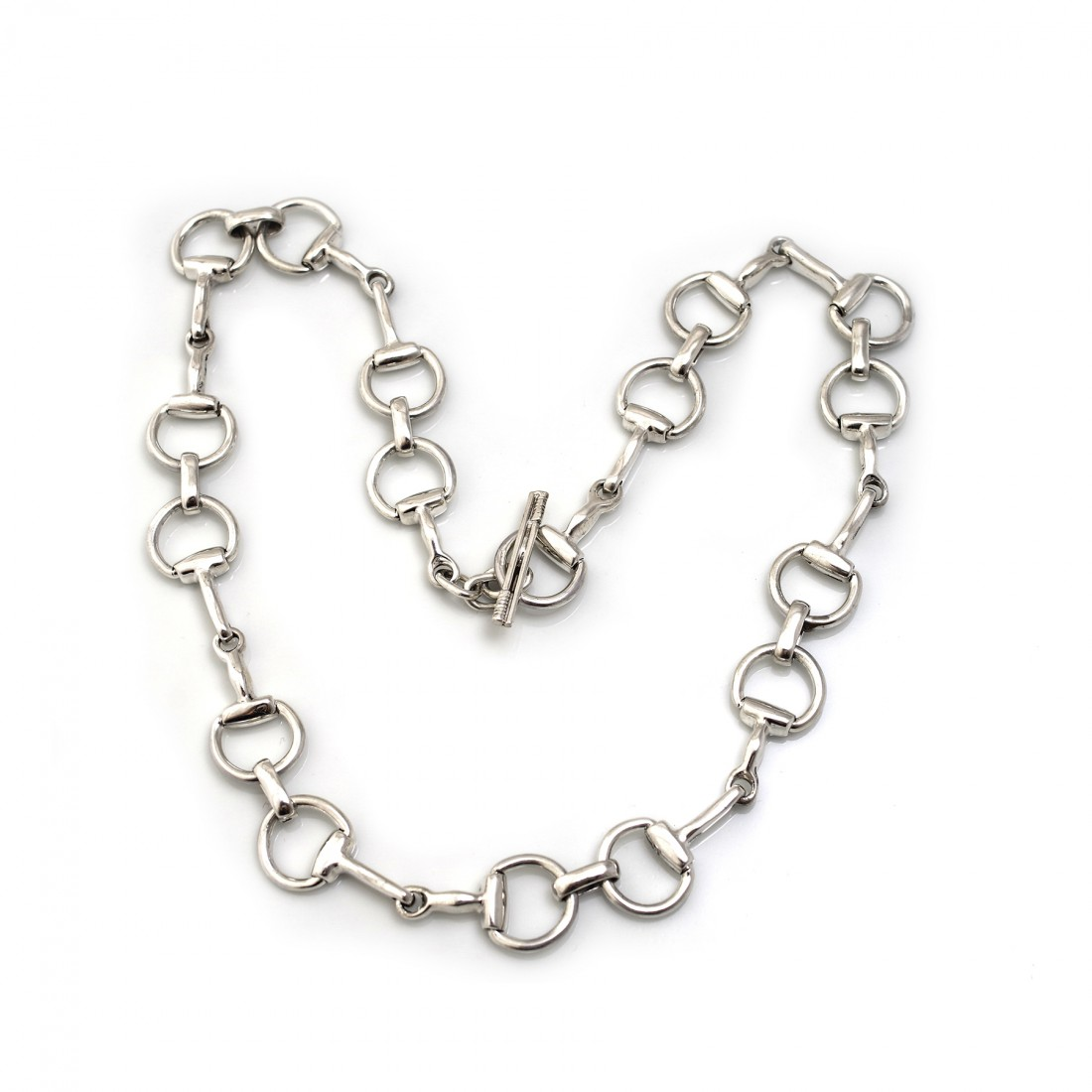 Sterling Silver Snaffle Necklace