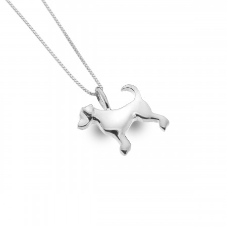 Sterling Silver Dog Pendant With Silver Chain