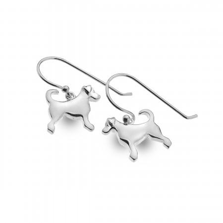 Sterling Silver Dangly Dog Earrings