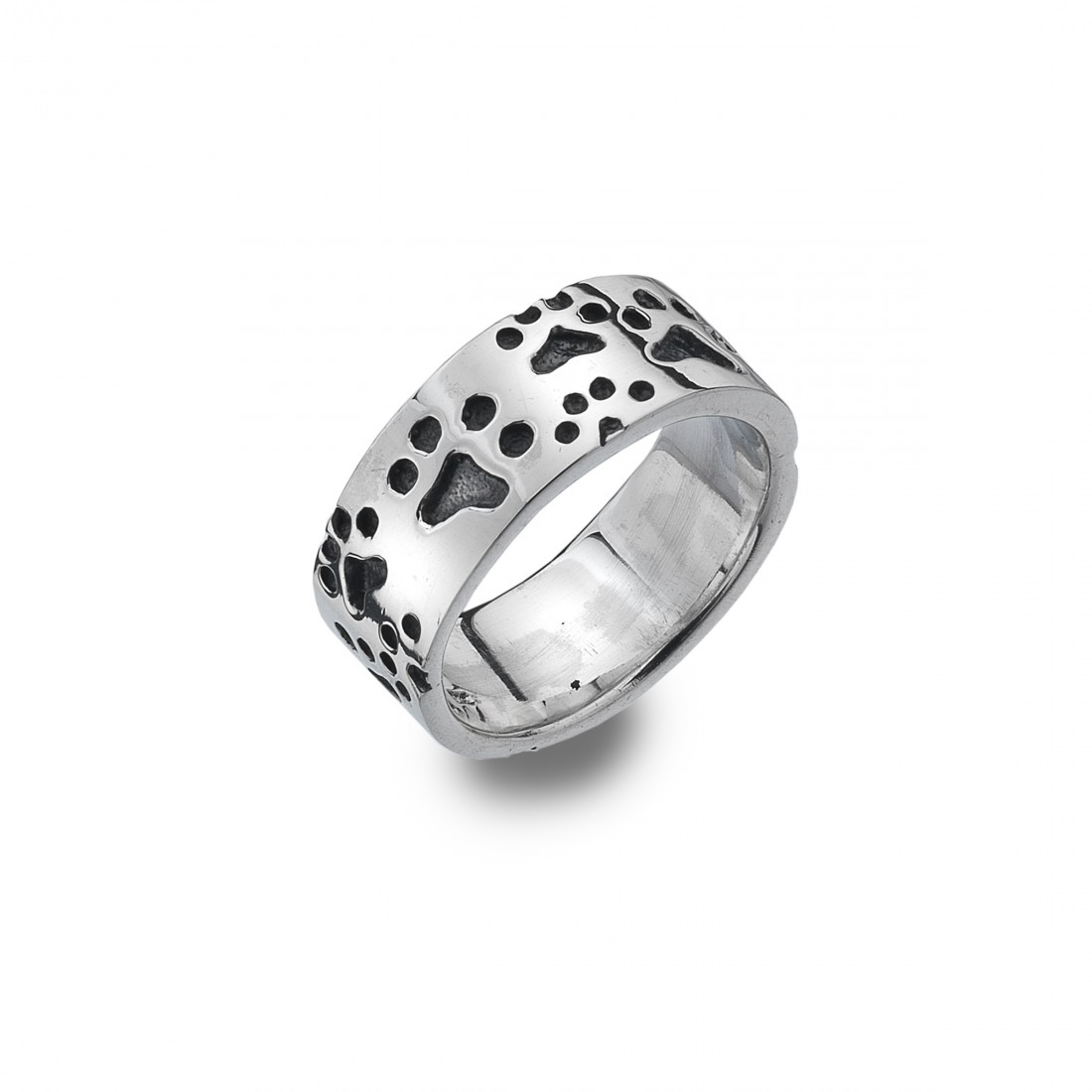 Sterling Silver Paw Print Ring
