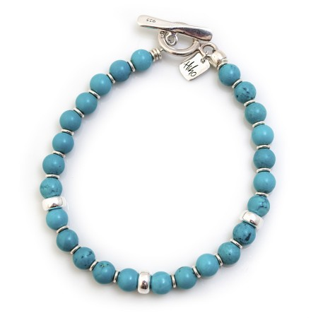 Exclusive Sterling Silver & Turquoise Bracelet