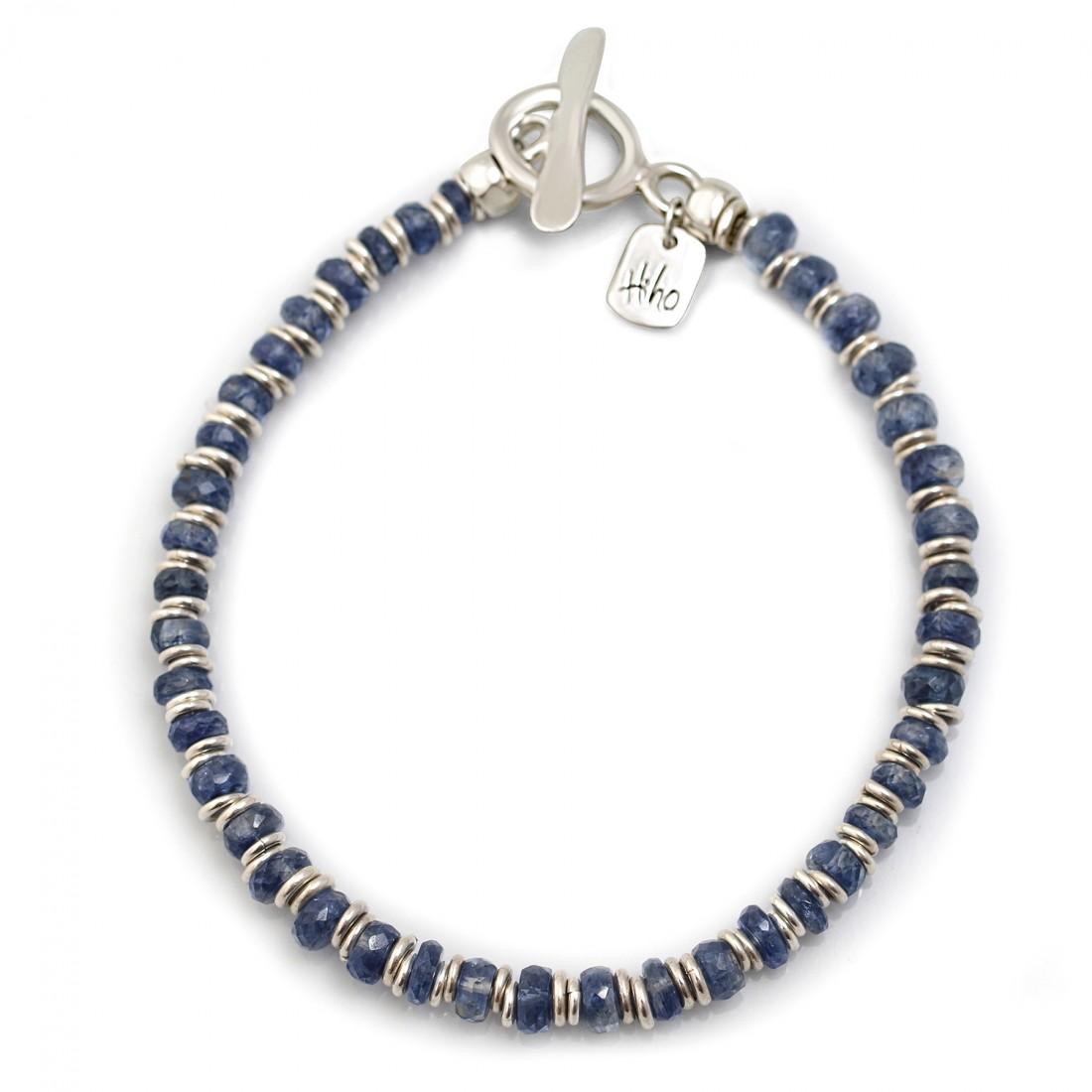 Exclusive Sterling Silver Multi Link & Kyanite Bracelet
