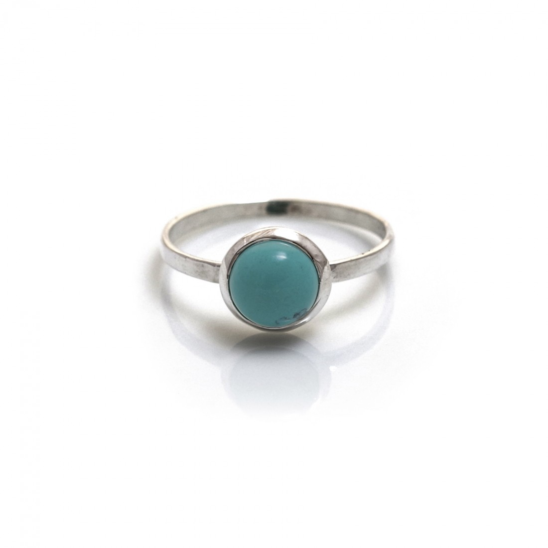 Sterling Silver & Turquoise Classic Round Ring