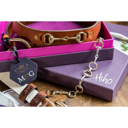 Sterling Silver & Two Tone Snaffle Bracelet plus Mackenzie & George Badminton Belt Gift Set