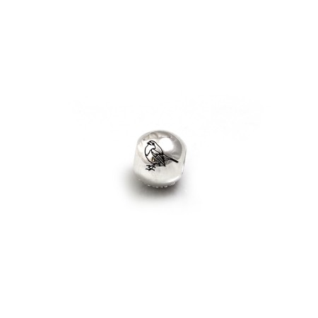 Exclusive Sterling Silver & CZ Robin Roller Ball Bead