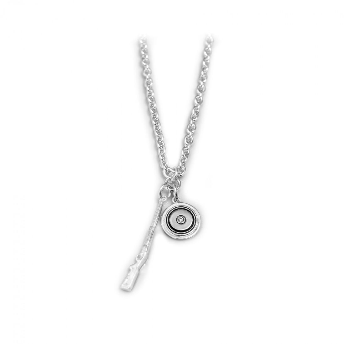 Exclusive Sterling Silver Shotgun Cluster Necklace