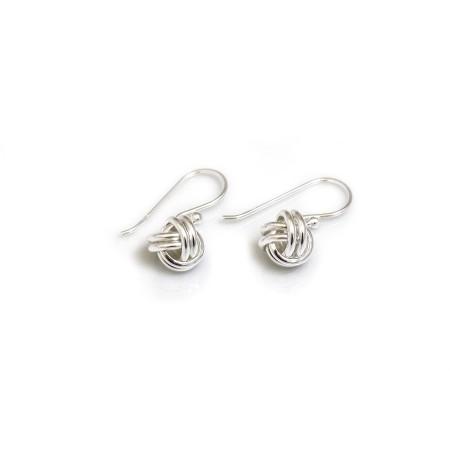 Sterling Silver Dangly Knot Earrings