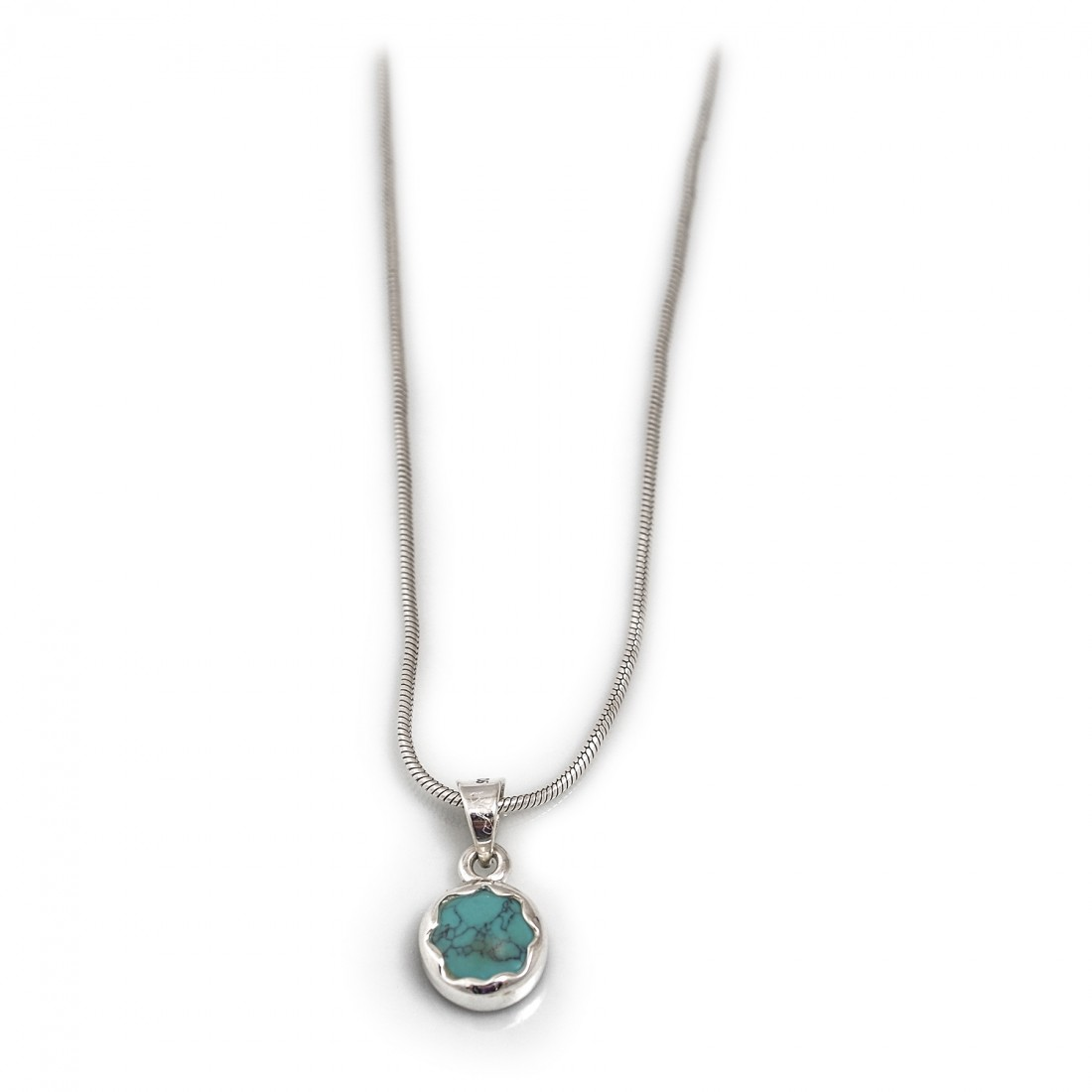 December Birthstone - Sterling Silver & Turquoise Necklace