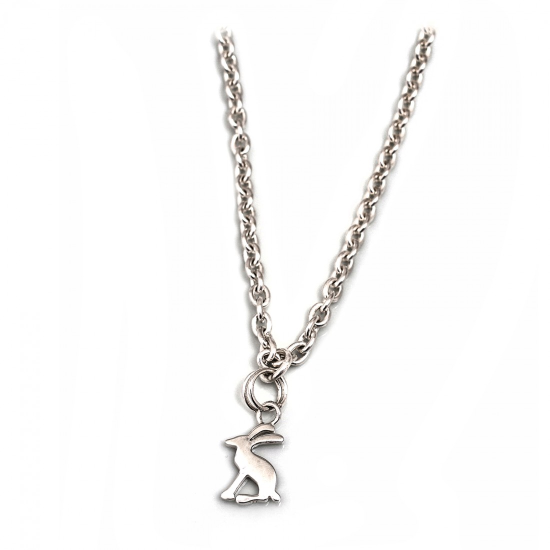 Exclusive Sterling Silver Joules Hare Necklace