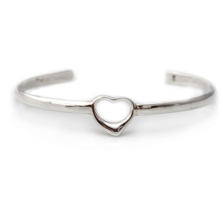 Exclusive Sterling Silver Heart Cuff Bracelet