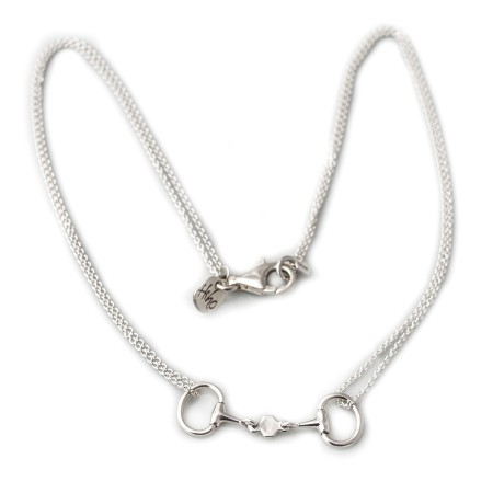 Exclusive Sterling Silver French Link Snaffle Necklace