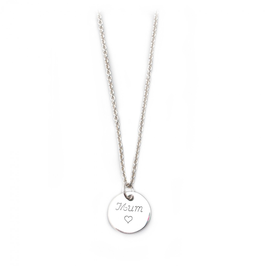 Exclusive Sterling Silver 'Mum' Necklace