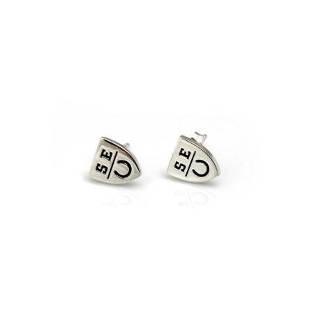 Exclusive Sterling Silver 'SEU' Stud Earrings