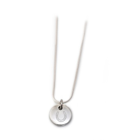 Exclusive Sterling Silver Engraved Horseshoe Necklace