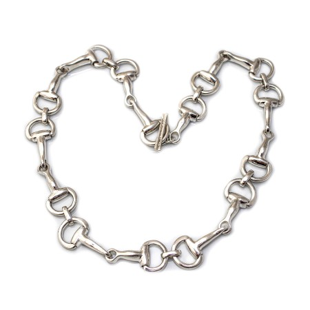 Classic Sterling Silver Snaffle Necklace