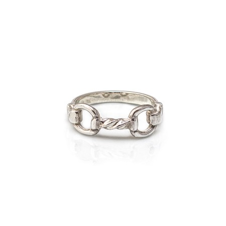 Exclusive Sterling Silver Twisted Snaffle Ring