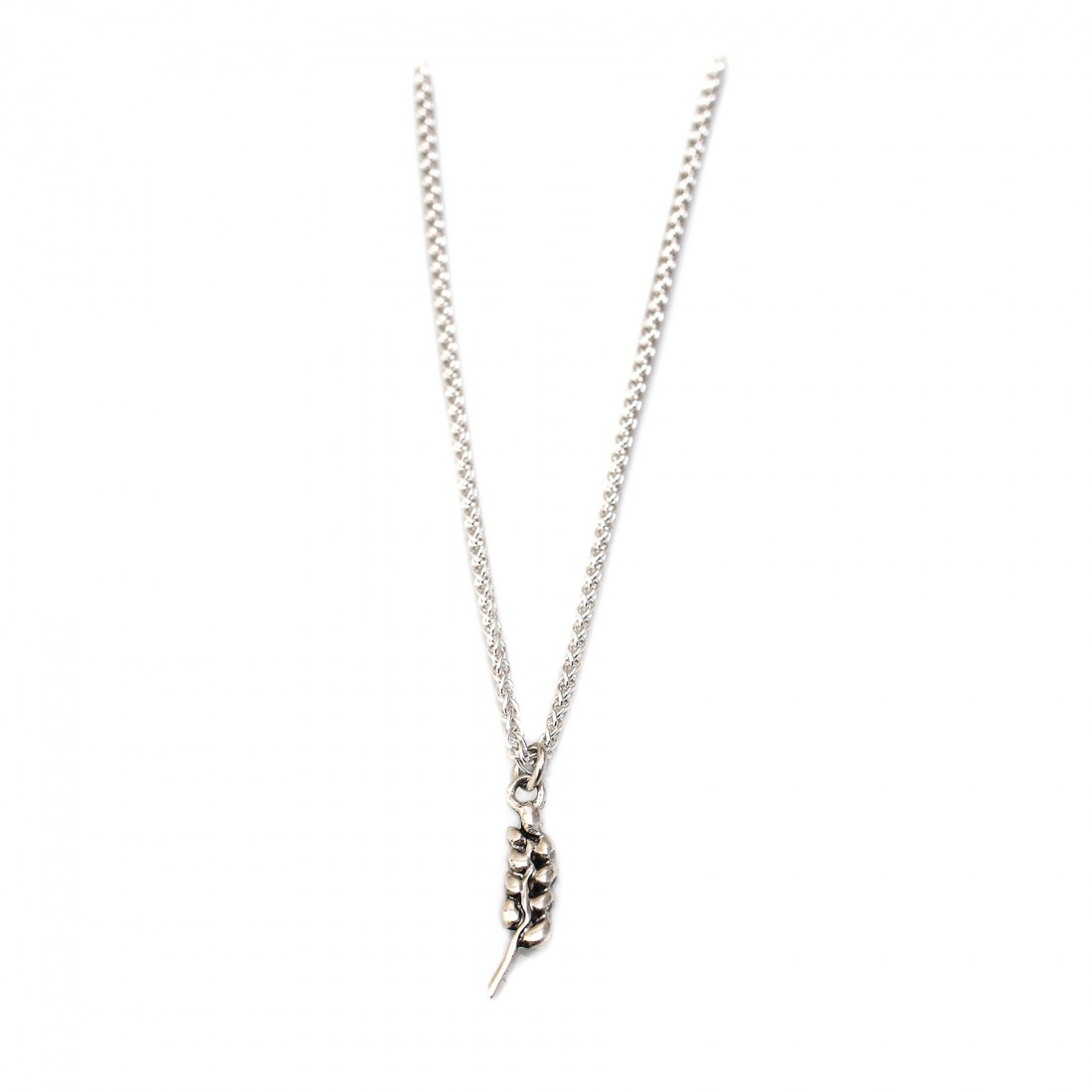 Sterling Silver Wheat Pendant With Chain